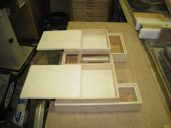 Small Boxes With Sliding Lids.